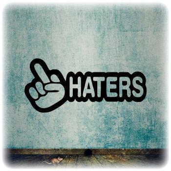 Одноразовый трафарет haters