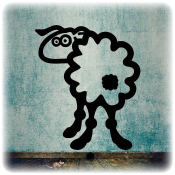 Одноразовый трафарет овца