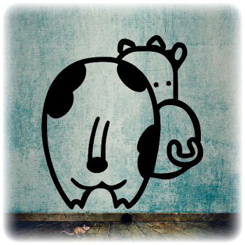 Одноразовый трафарет корова
