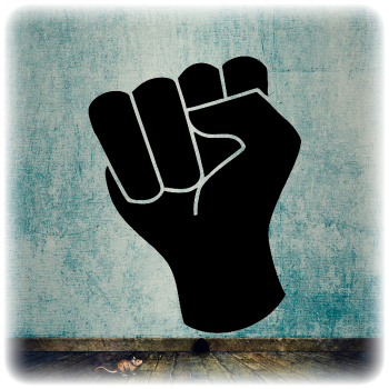 Одноразовый трафарет кулак