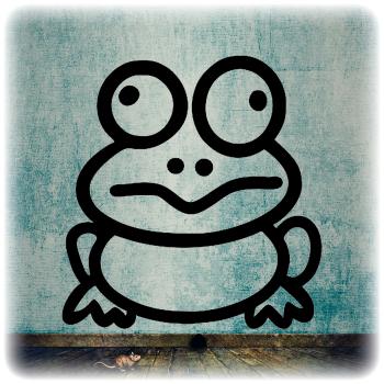 Одноразовый трафарет лягушка