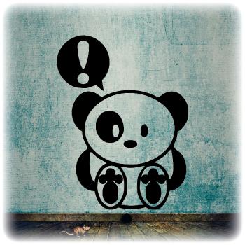 Одноразовый трафарет панда