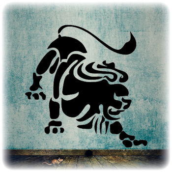Многоразовый трафарет Лев