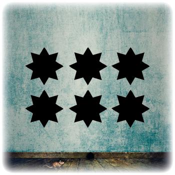 Многоразовый трафарет Набор звезд 1