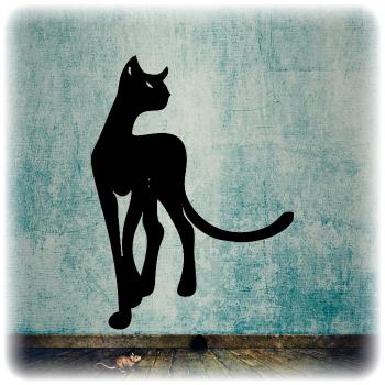 Одноразовый трафарет Гордая кошка