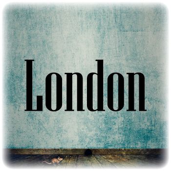 Одноразовый трафарет Лондон надпись