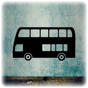 Одноразовый трафарет Автобус