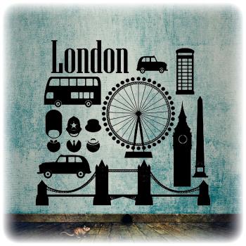 Одноразовый трафарет Лондон набор