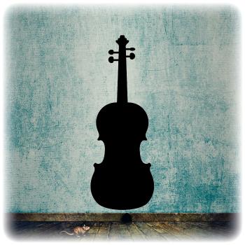 Многоразовый трафарет Скрипка