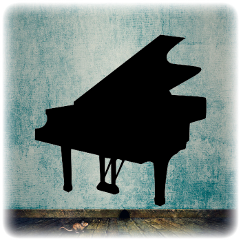 Многоразовый трафарет Пианино