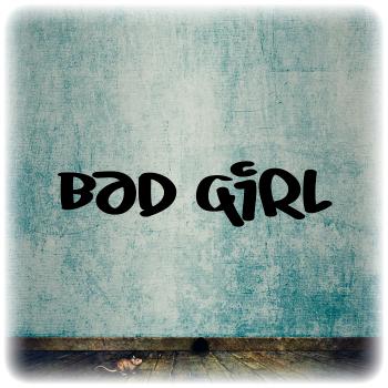 Одноразовый трафарет Bad girl