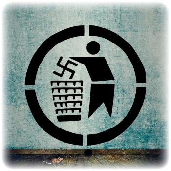Одноразовый трафарет Против Нацизма