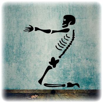Одноразовый трафарет Веселый скелет 3