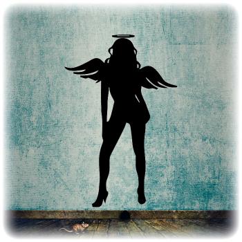 Одноразовый трафарет Ангел