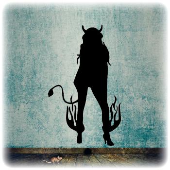 Одноразовый трафарет Демон