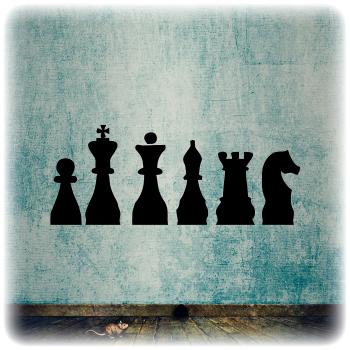 Одноразовый трафарет Шахматные фигуры