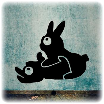 Одноразовый трафарет Кролики