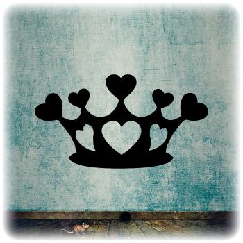 Одноразовый трафарет Корона