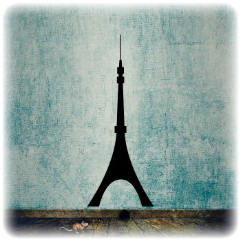 Многоразовый трафарет Башня