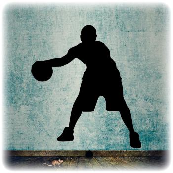 Многоразовый трафарет Баскетбол