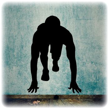 Многоразовый трафарет Легкая атлетика 1
