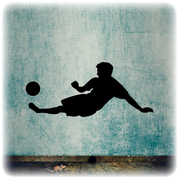 Многоразовый трафарет Футбол