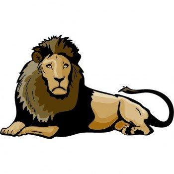 Наклейка в детскую Лев