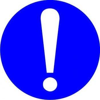 Наклейка Общий предписывающий знак прочие предписания