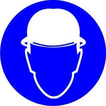 Наклейка Работать в защитной каске