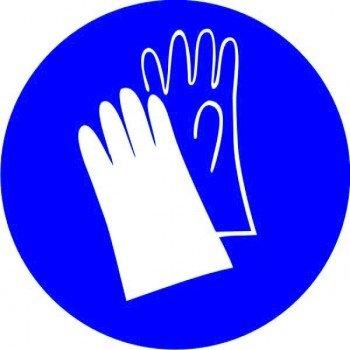 Наклейка Работать в защитных перчатках