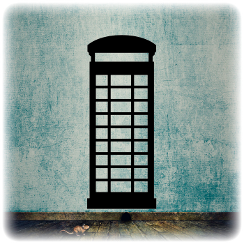 Одноразовый трафарет Телефонная будка