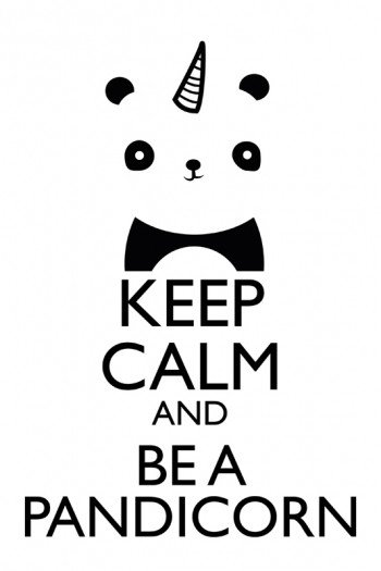 Наклейка на планшет Keep Calm Pandicorn