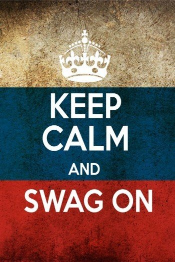 Наклейка на планшет Keep Calm Swag On Россия