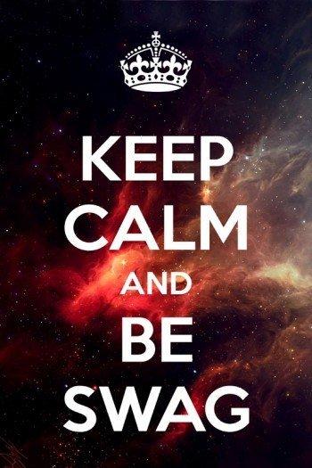 Наклейка на планшет Keep Calm Swag On