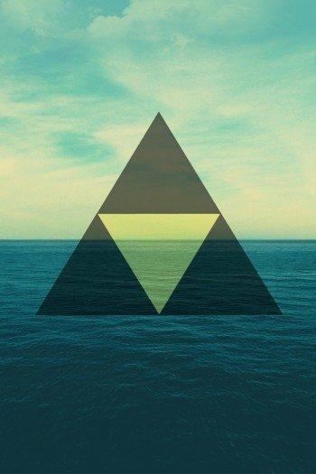 Наклейка на планшет Треугольник