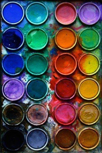 Наклейка на планшет Акварельные Краски