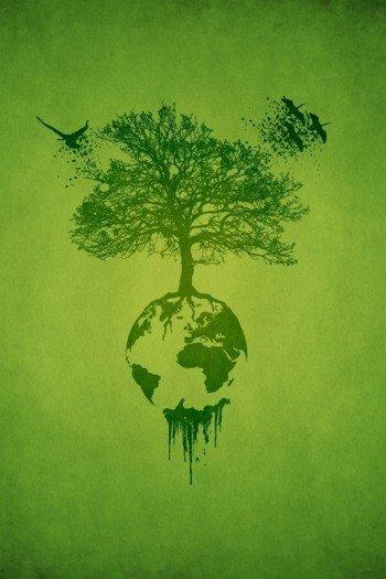 Наклейка на планшет Зеленая Планета