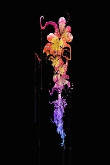 Наклейка на планшет Цветок Из Красок