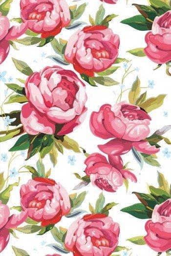 Наклейка на планшет Цветы Текстура