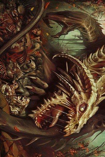 Наклейка на планшет Кровожадный Дракон