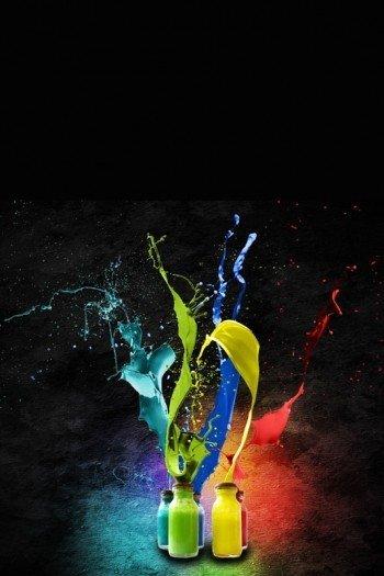 Наклейка на планшет Фейерверк Красок