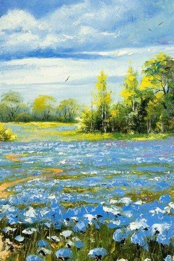 Наклейка на планшет Красивый Пейзаж