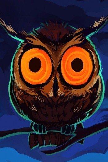 Наклейка на планшет Ночная Сова