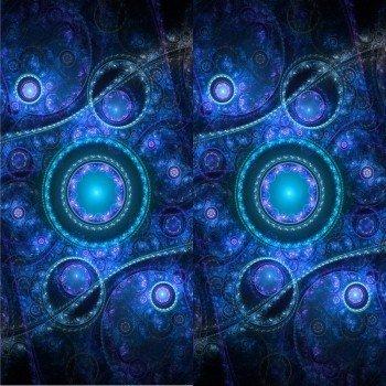 Наклейка на плеер Синий Шар С Узорами
