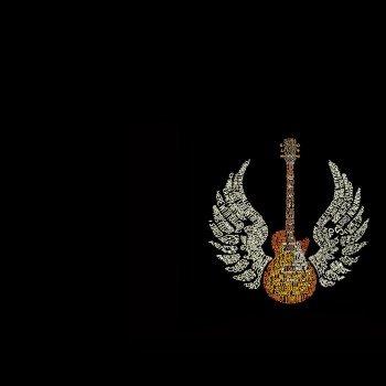 Наклейка на плеер Крылатая Гитара