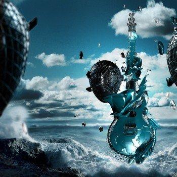 Наклейка на плеер Нео Гитара