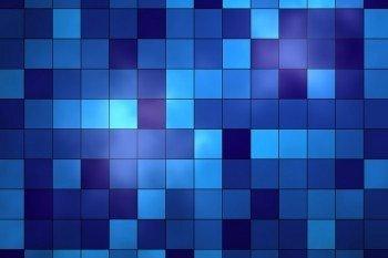 Наклейка на ноутбук Синие Квадраты