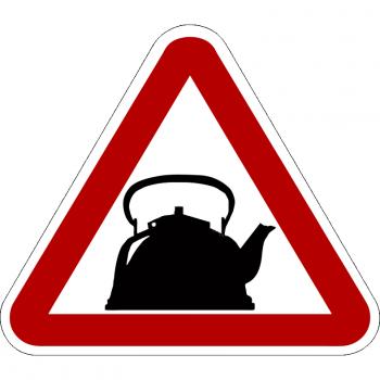 Наклейка на авто Знак За рулем Чайник