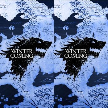 Наклейка на мод Winter is coming