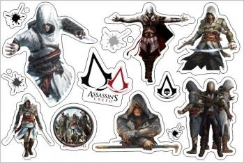 Стикерпак Набор наклеек А5 Assassin`s